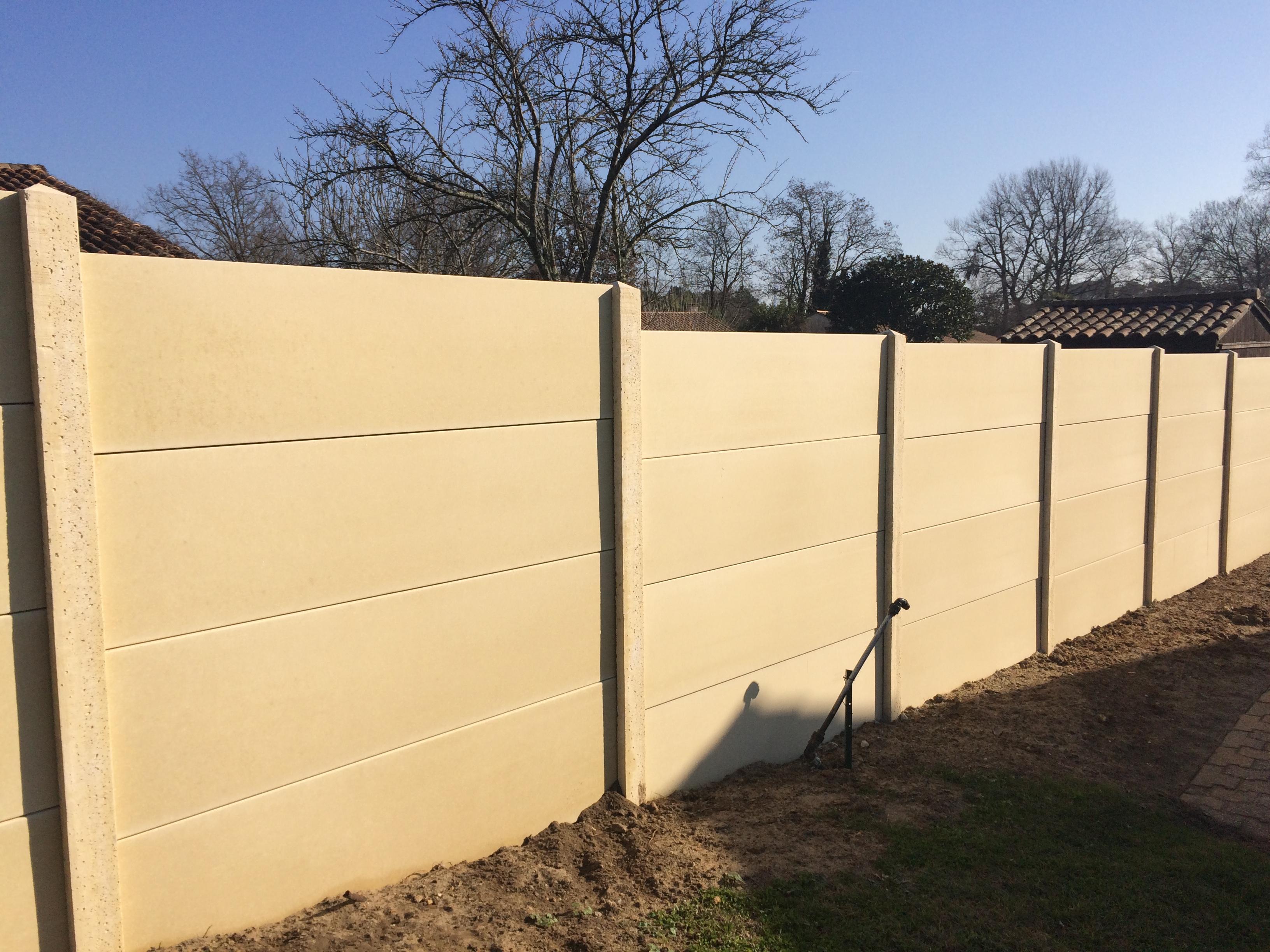 Cloture Bois Hauteur 2M50 fourniture & pose clôture en béton liisse au haillan (33